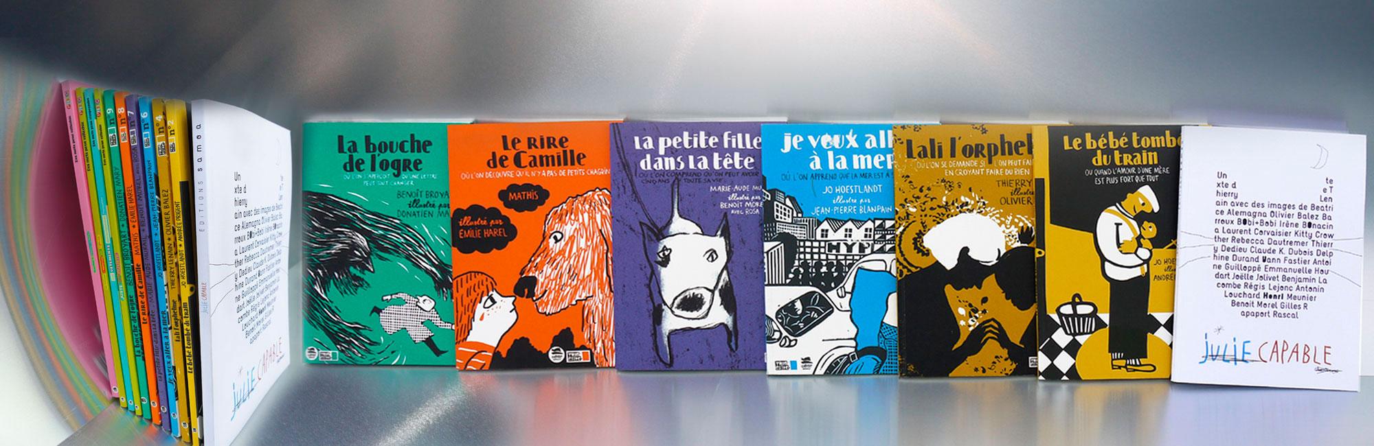 Impression d'une série de livres illustrés
